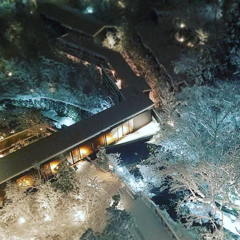 箱根は一面の銀世界です