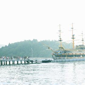 #No.38 #芦ノ湖 #遊覧船に並ぶ人々
