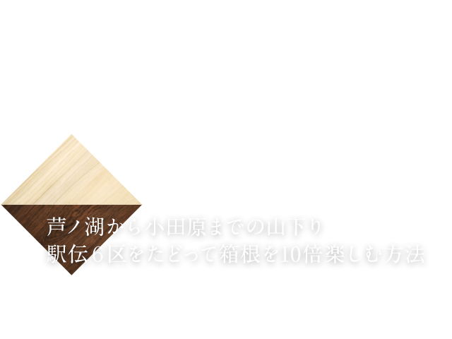 芦ノ湖から小田原までの山下り 駅伝6区をたどって箱根を10倍楽しむ方法