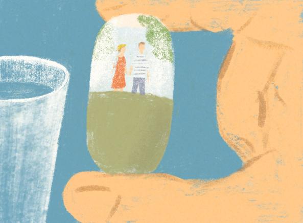 挿入イラスト)詩人・菅原敏の箱根を舞台にした書き下ろし小説「湯船に乗って」後編|My Hakone Time by 天悠