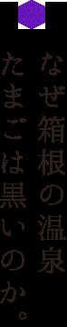 なぜ箱根の温泉たまごは黒いのか。